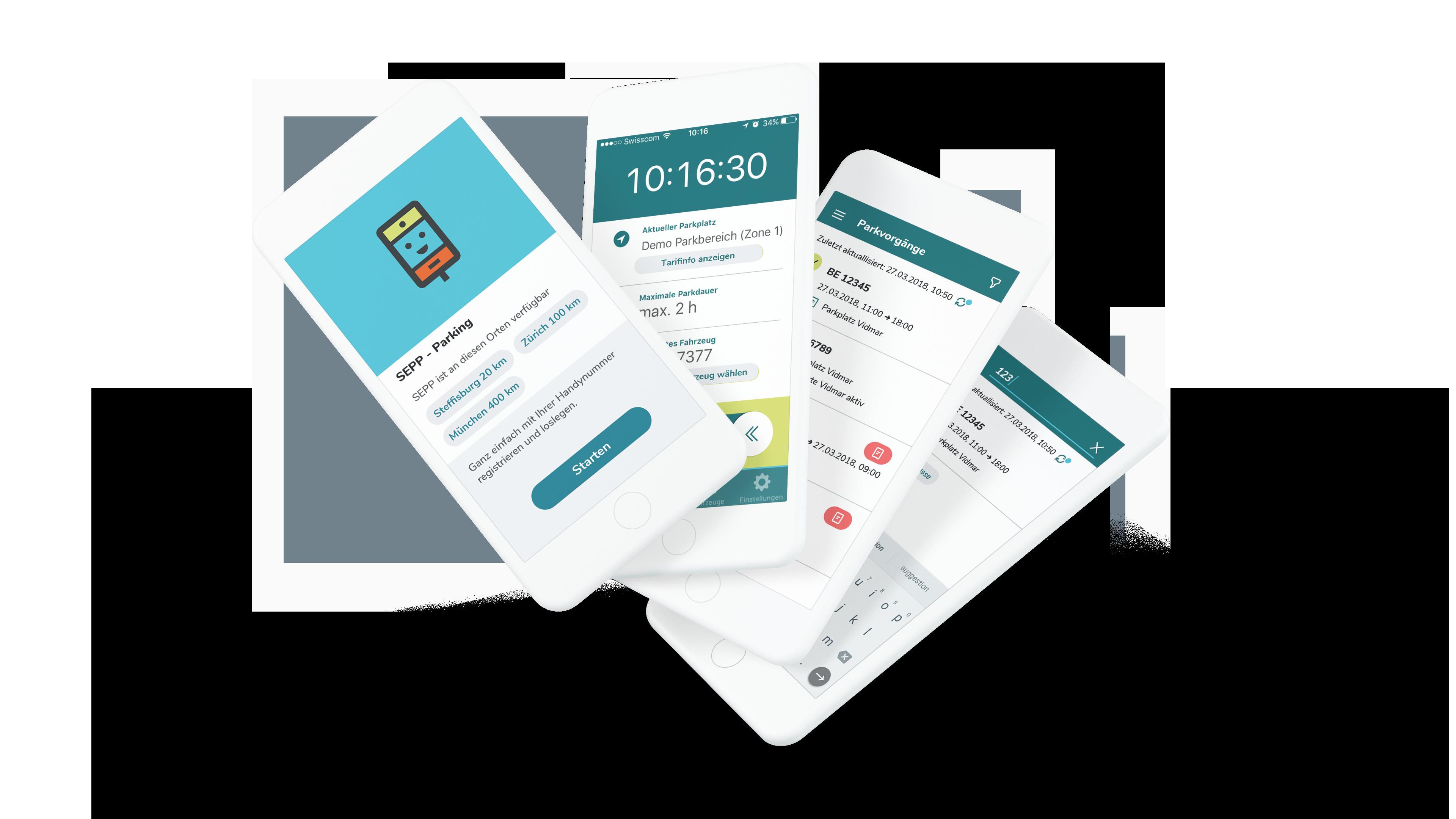 Designsensor AG Referenz SEPP Parking App
